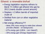 ethanol a renewable biofuel