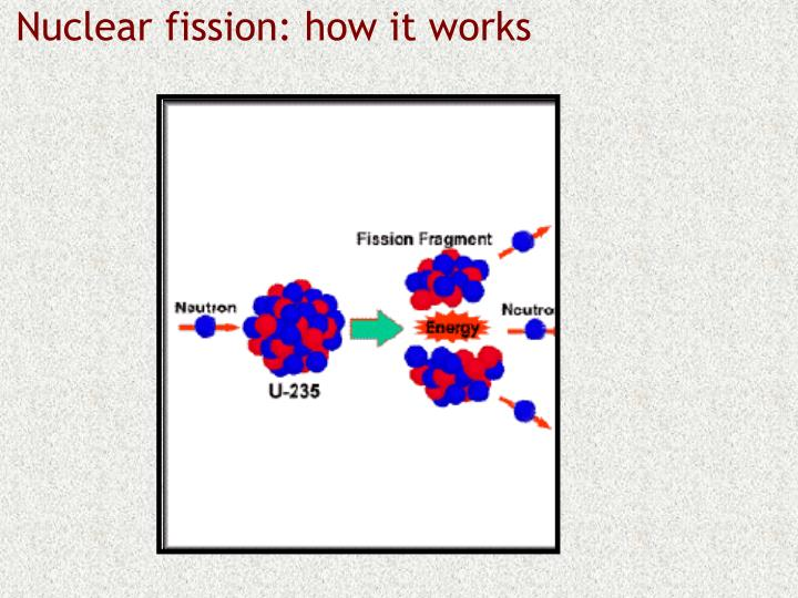 Nuclear fission: how it works