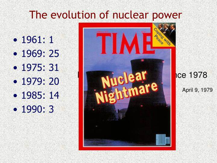 The evolution of nuclear power