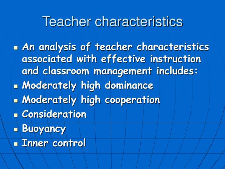 Teacher characteristics