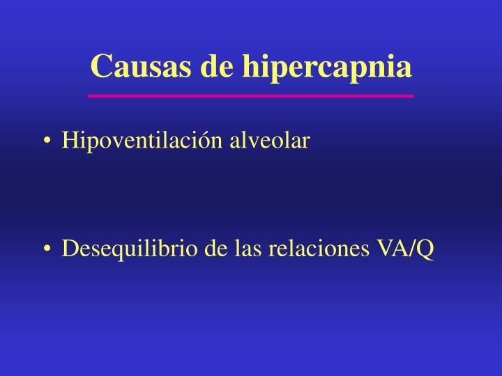 Causas de hipercapnia