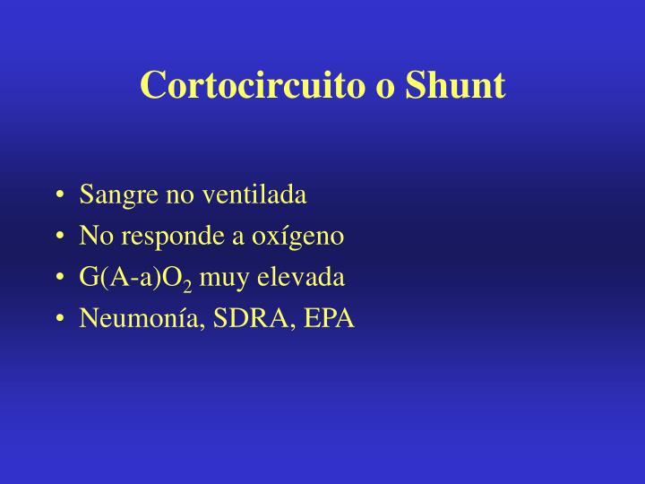 Cortocircuito o Shunt
