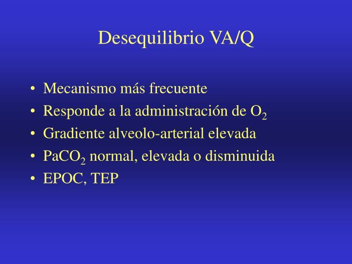 Desequilibrio VA/Q