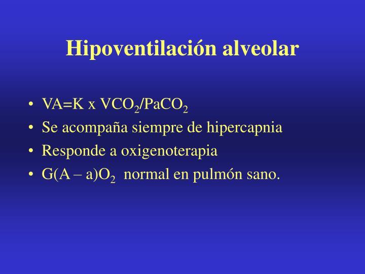 Hipoventilación alveolar