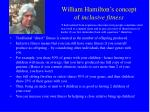 william hamilton s concept of inclusive fitness