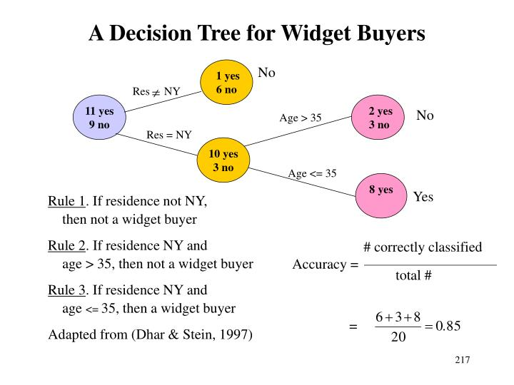 A Decision Tree for Widget Buyers