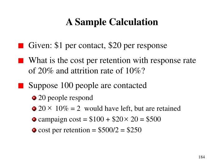 A Sample Calculation