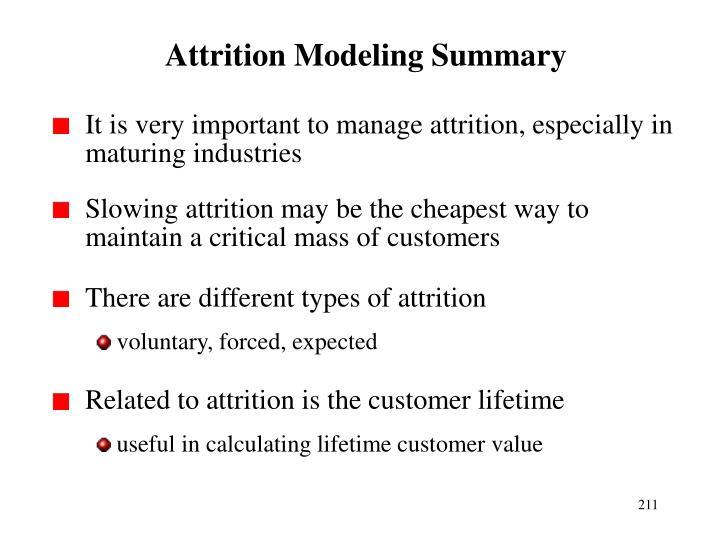 Attrition Modeling Summary