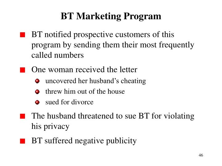 BT Marketing Program