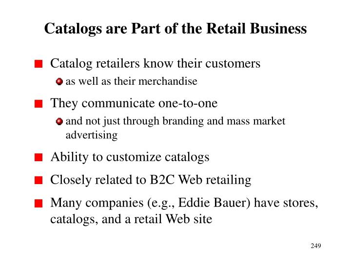 Catalogs are Part of the Retail Business