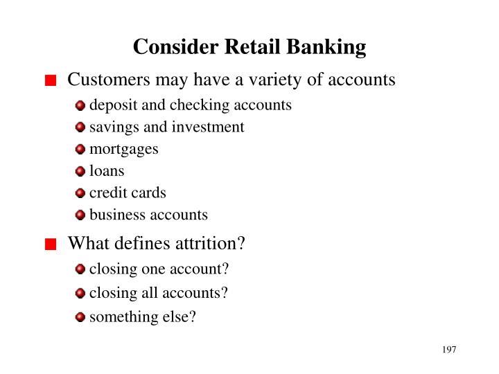 Consider Retail Banking