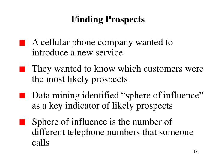 Finding Prospects