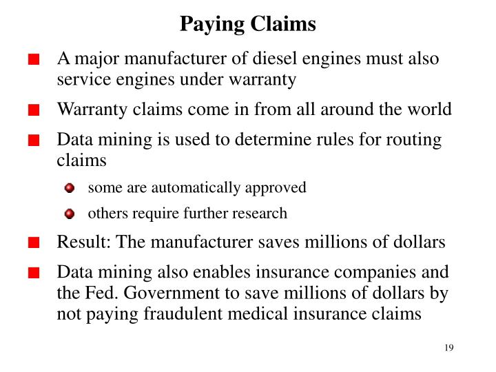 Paying Claims