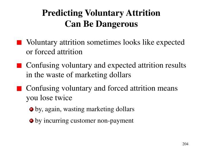 Predicting Voluntary Attrition