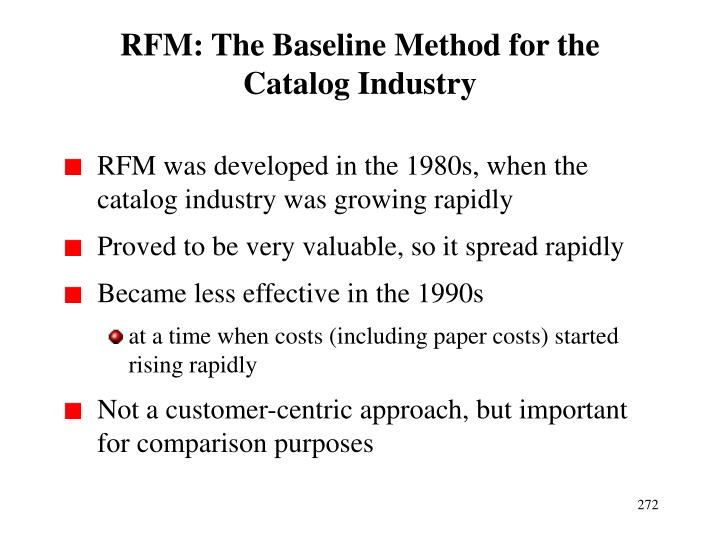 RFM: The Baseline Method for the