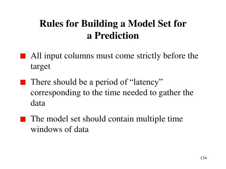 Rules for Building a Model Set for