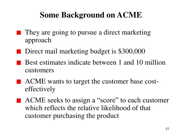 Some Background on ACME