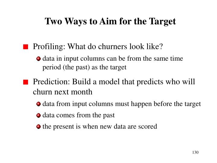 Two Ways to Aim for the Target