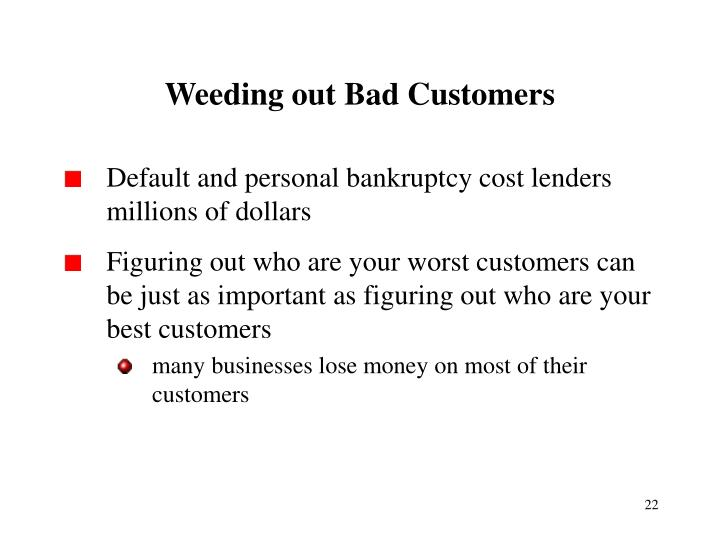 Weeding out Bad Customers