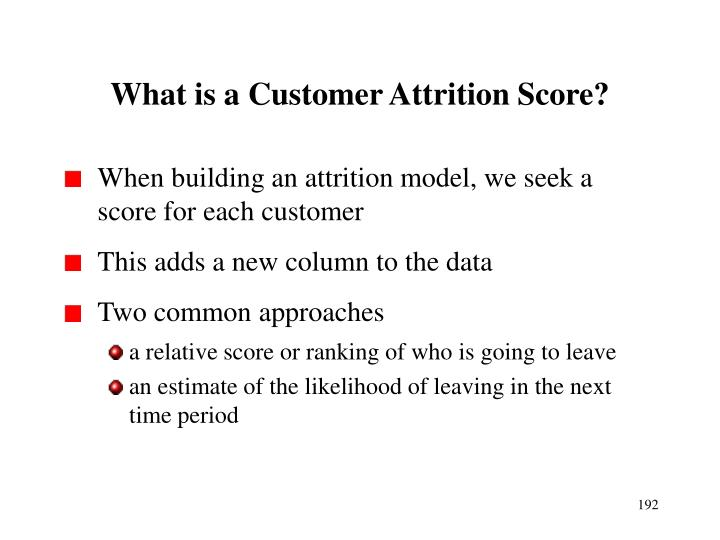 What is a Customer Attrition Score?