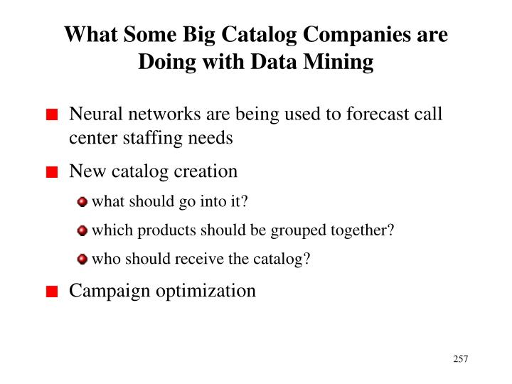 What Some Big Catalog Companies are