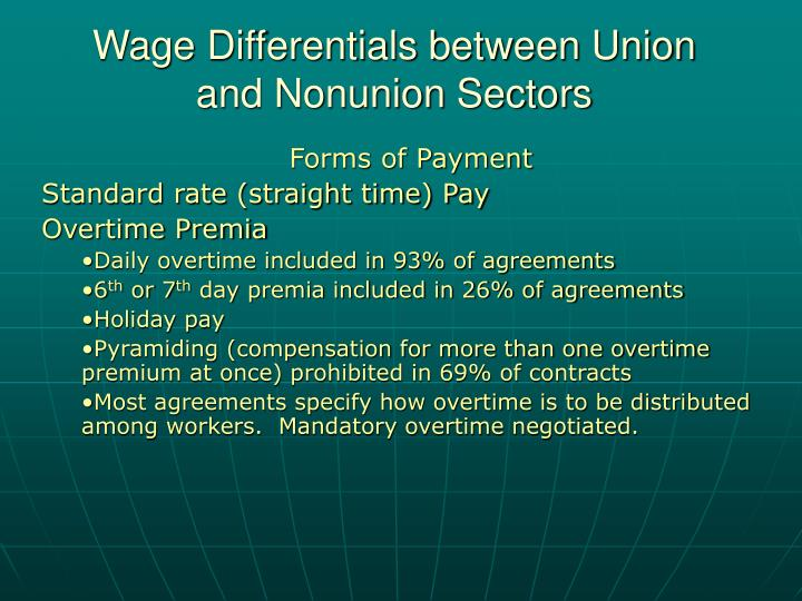 Wage differentials between union and nonunion sectors1