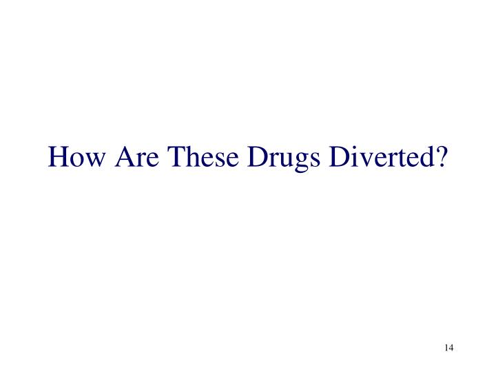 How Are These Drugs Diverted?
