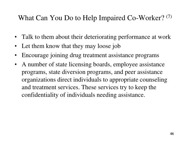 What Can You Do to Help Impaired Co-Worker?