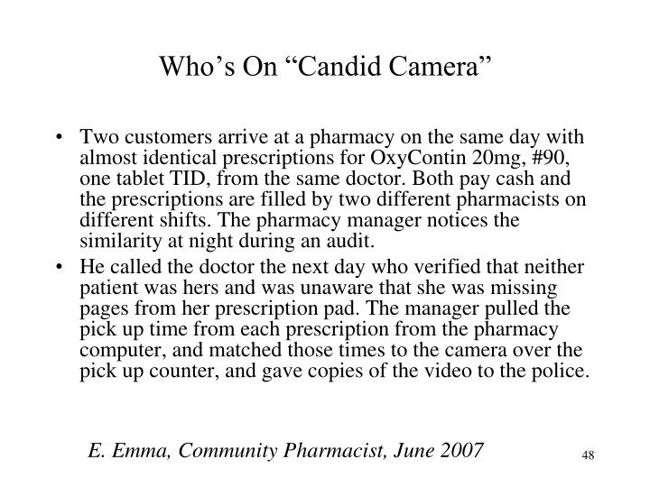 "Who's On ""Candid Camera"""