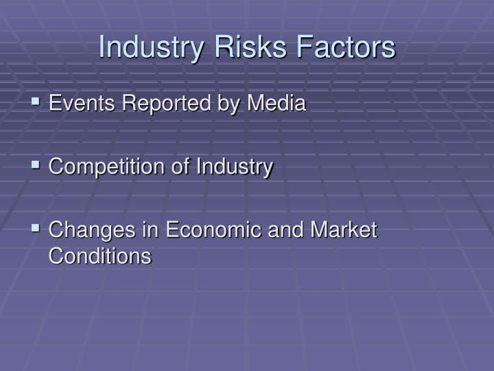 Industry Risks Factors