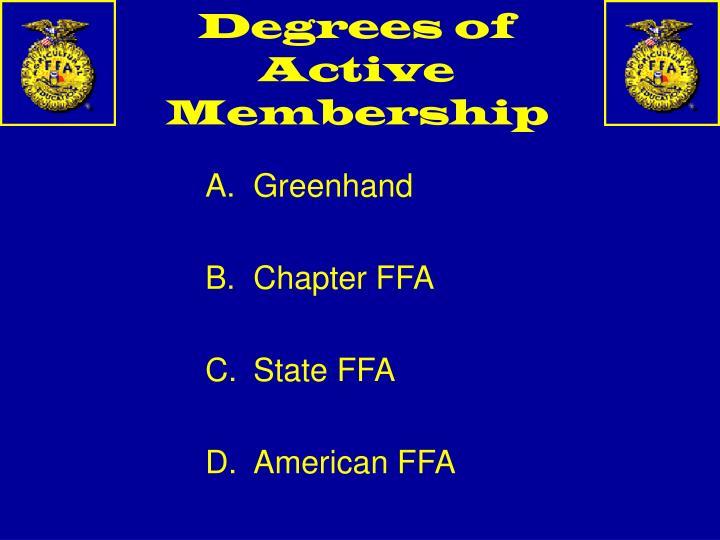 Degrees of Active Membership
