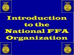 introduction to the national ffa organization