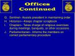 offices continued