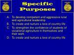 specific purposes