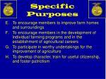 specific purposes1