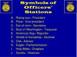 symbols of officers stations