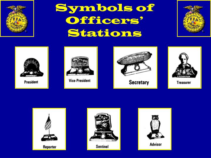 Symbols of Officers' Stations