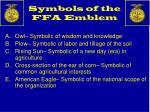 symbols of the ffa emblem