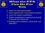 what the ffa can do for you1