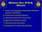 what the ffa does1