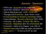 anemia summary