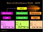red cell distribution width rdw
