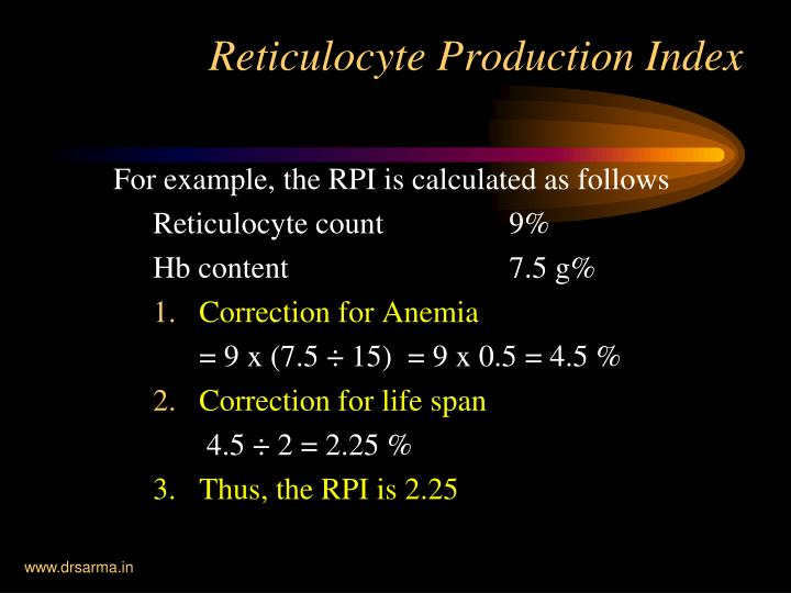 For example, the RPI is calculated as follows