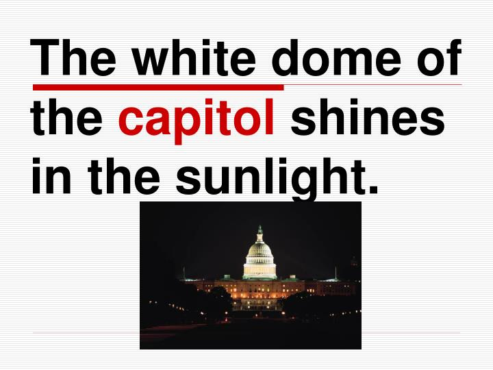 The white dome of the