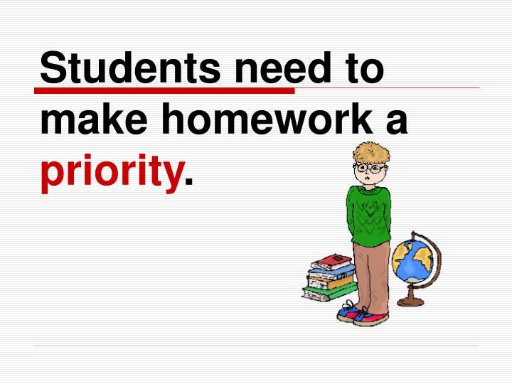 Students need to make homework a