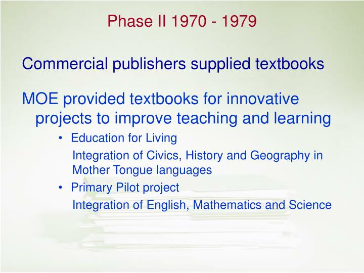 Commercial publishers supplied textbooks