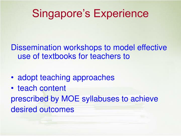 Dissemination workshops to model effective use of textbooks for teachers to