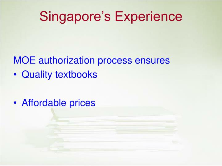 MOE authorization process ensures