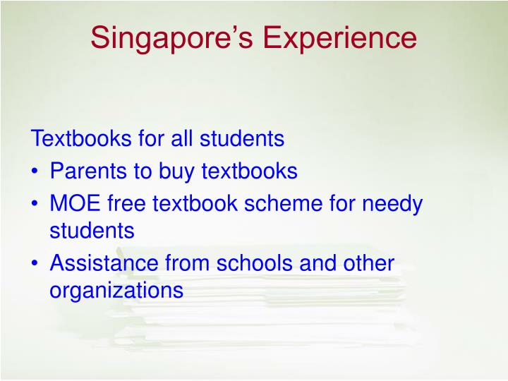 Textbooks for all students