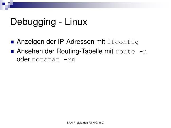 Debugging - Linux